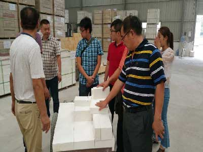 Zircon Brick Customer visit RS factory