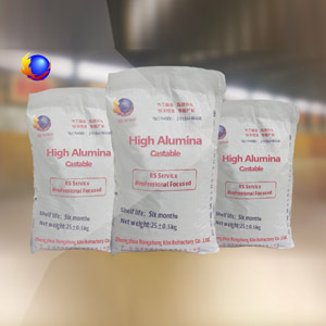 High alumina refractory castable