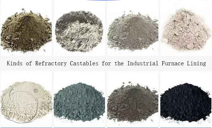 Rongsheng Kinds of Refractory Castables for Furnace Lining